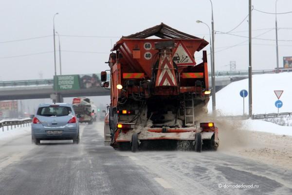 Уборка снега: Каширское шоссе