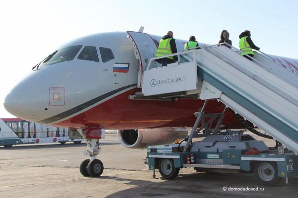 SSJ100 в Домодедово