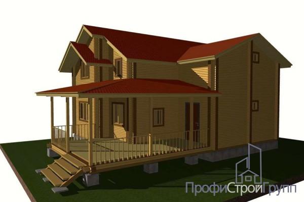 Визуализация жилого двухэтажного дома с подвалом в д. Шубино