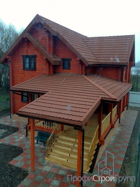 Жилой двухэтажный дом с подвалом в д. Шубино
