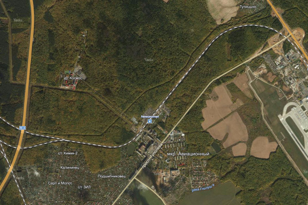 Фрагмент карты Домодедово