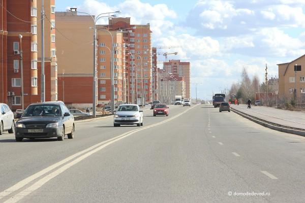 Улица Лунная после строительства