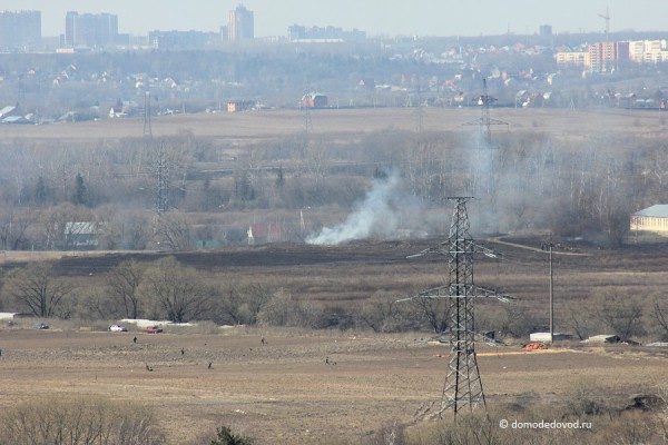 Дым в селе Домодедово