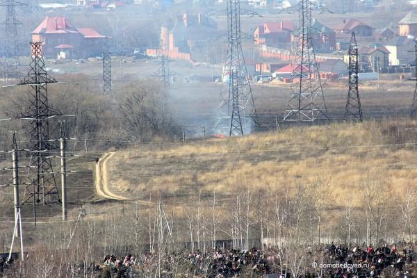 Пожар в селе Домодедово