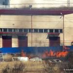 Опасный пал травы в Домодедово