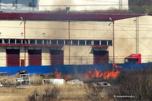Пожар на улице Краснодарской