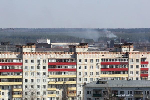 Пожар за железнодорожным депо