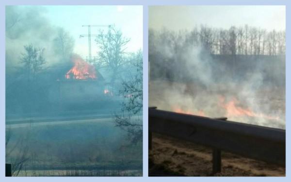 Пожар в селе Ям