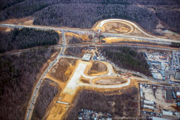 Строительство развязки около аэропорта Домодедово