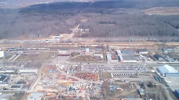 Строительство железнодорожного пути в аэропорт Домодедово