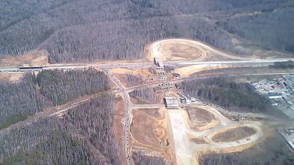 Строительство развязки на подъезде к аэропорту Домодедово