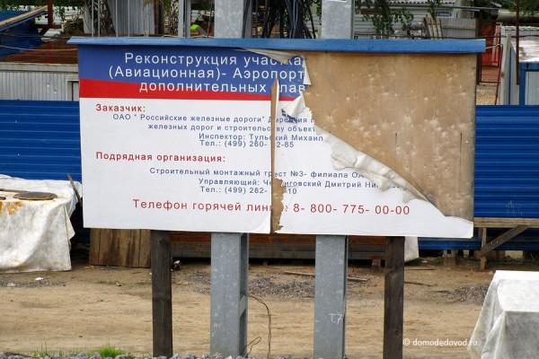 Реконструкция станции Авиационная