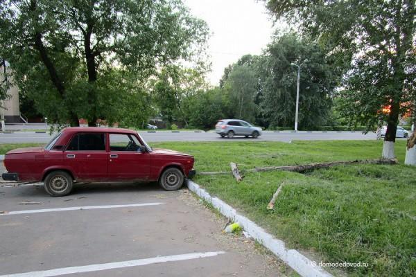 Дерево упало на автомобиль «ВАЗ»