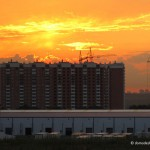 Закат над ЖК «Домодедово Парк». Летний обзор