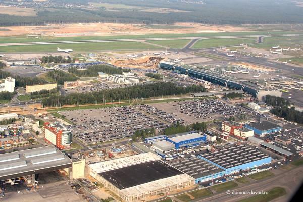 Аэропорт Домодедово сверху