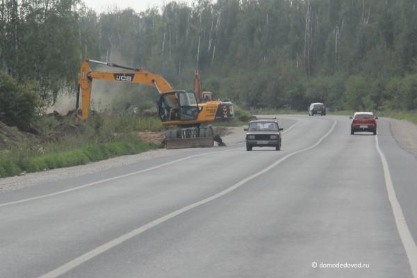 Развязка около аэропорта Домодедово. Август 2015