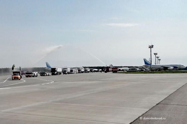 Праздничный показ аэродромной техники в аэропорту Домодедово