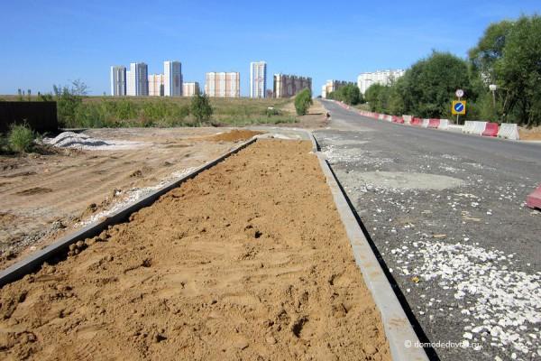 Дорога и тротуар в Южное и Новое Домодедово (37)