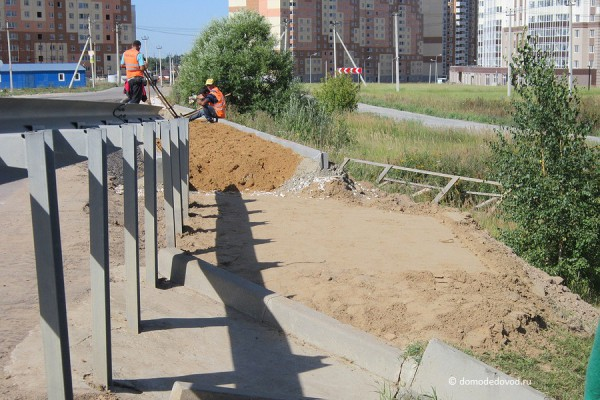 Дорога и тротуар в Южное и Новое Домодедово (15)