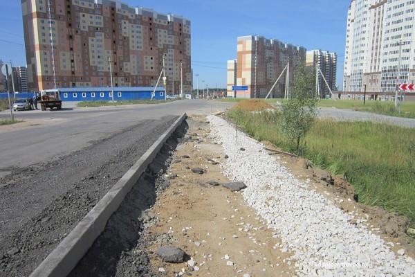 Дорога и тротуар в Южное и Новое Домодедово (14)