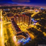 Ночное Домодедово сверху
