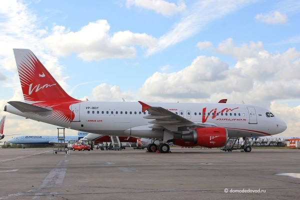 Самолет авиакомпании Вимавиа