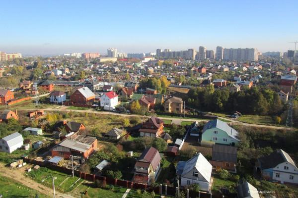 Частный сектор и многоэтажки на Кирова
