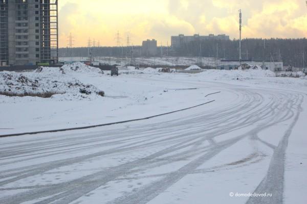 Строительство развязки с трассой М4 «Дон» в Южном Домодедово. Ноябрь 2015