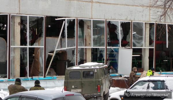 Последствия взрыва баллона в котельной в Чурилково