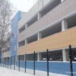 Многоуровневая парковка около первой школы в Домодедово