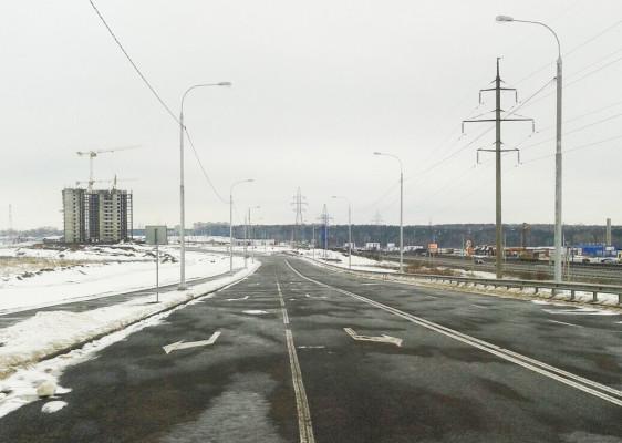 """Съезд на М4 """"Дон"""" в Южном микрорайоне"""