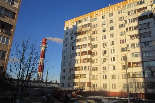 Пожар в многоэтажке на улице Корнеева, 34 в Домодедово