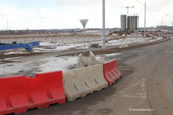 Съезд на М4 «Дон» в Южном микрорайоне Домодедово