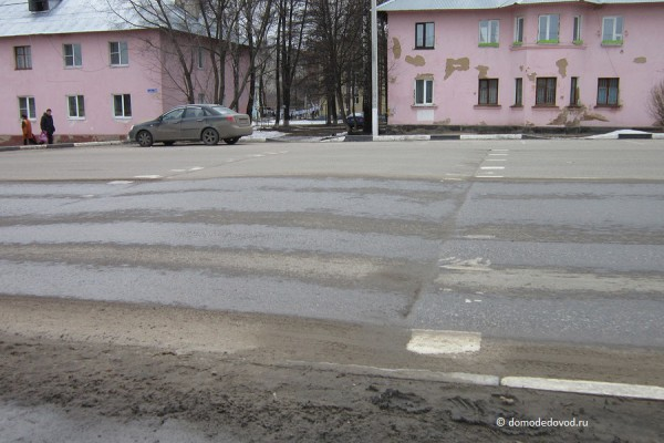 Пешеходный переход около Пенсионного фонда
