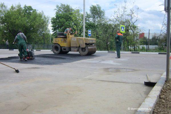 Ремонт дороги около пенсионного фонда