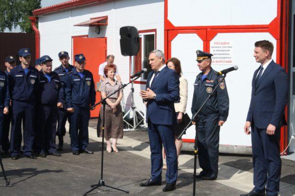 В Котляково открыли новую пожарную часть