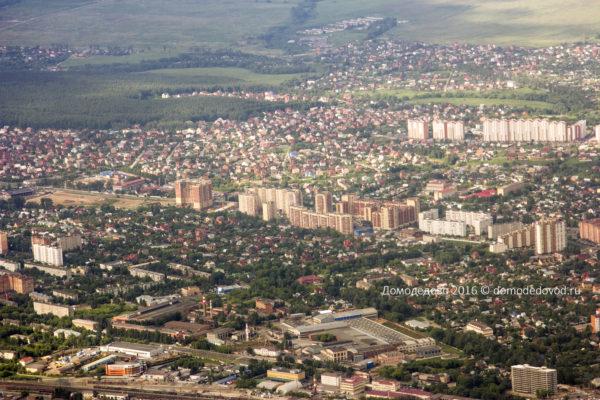 Домодедово сверху. Июнь 2016