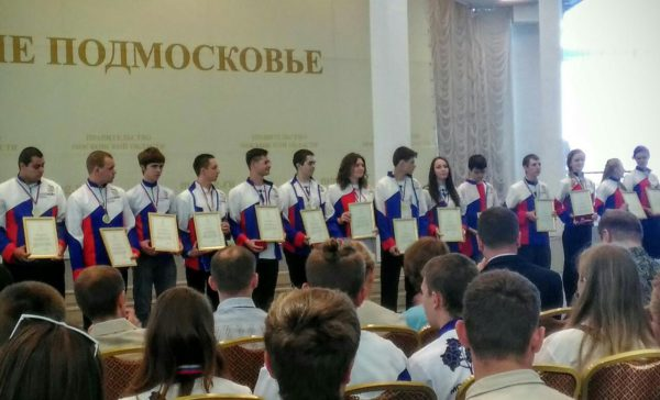 "Студенты ""Московии"" на приеме губернатора"