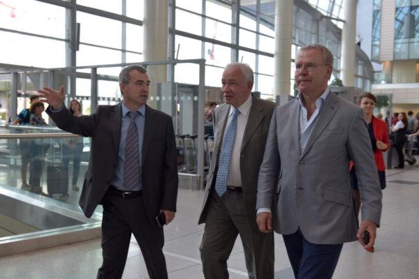 Вячеслав Фетисов оценил масштабы строительства терминала аэропорта Домодедово