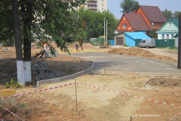 Строительство сквера на улице Советской