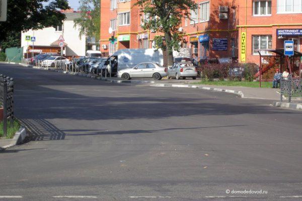 Разметка на улице Корнеева (2)