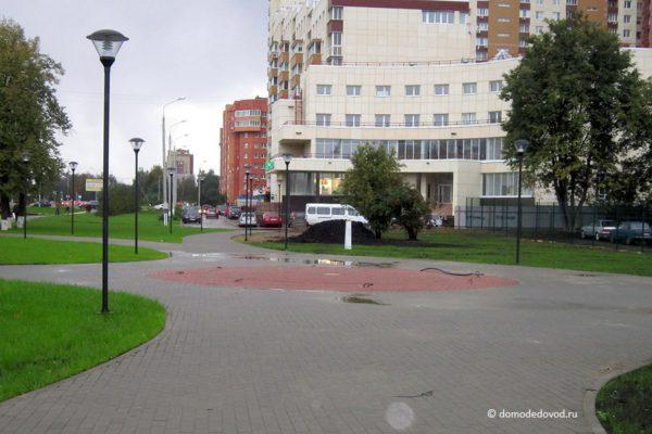 Строительство сквера жертв Чернобыльской АЭС