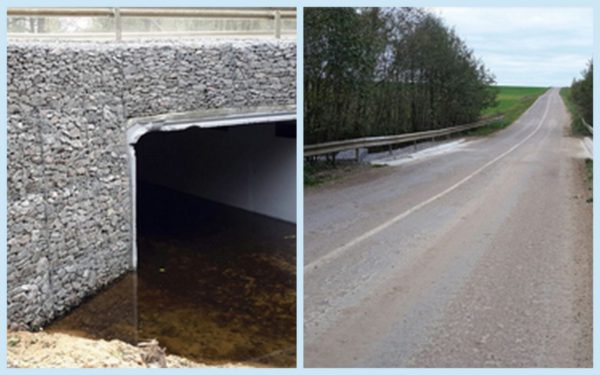 Ремонт водопропускной трубы под дорогой на реке Востец