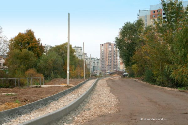 Тротуар в деревне Редькино