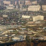 Домодедово сверху. Микрорайон Северный, улица Гагарина, ТРЦ «Торговый Квартал»