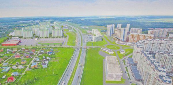 Микрорайон Южный. Вид с М4. Проект