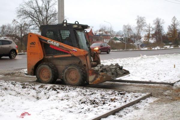 Реконструкция очередного участка тротуара по улице Советской