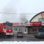 Пожар в магазине на улице Корнеева в Домодедово. Фото