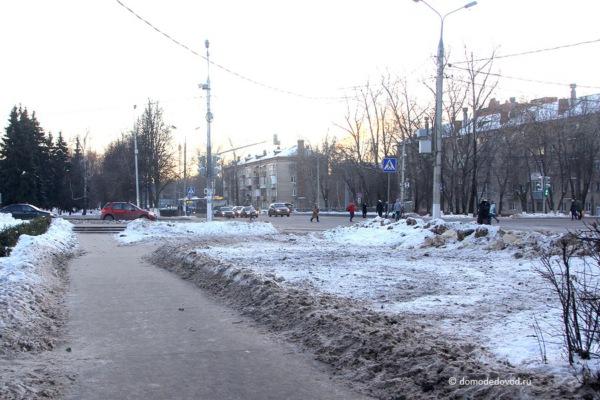 Домодедово. Перекресток улиц Советская и Каширское шоссе.
