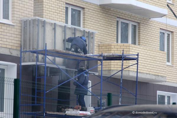 Строительные работы в в ЖК «Любимое Домодедово»